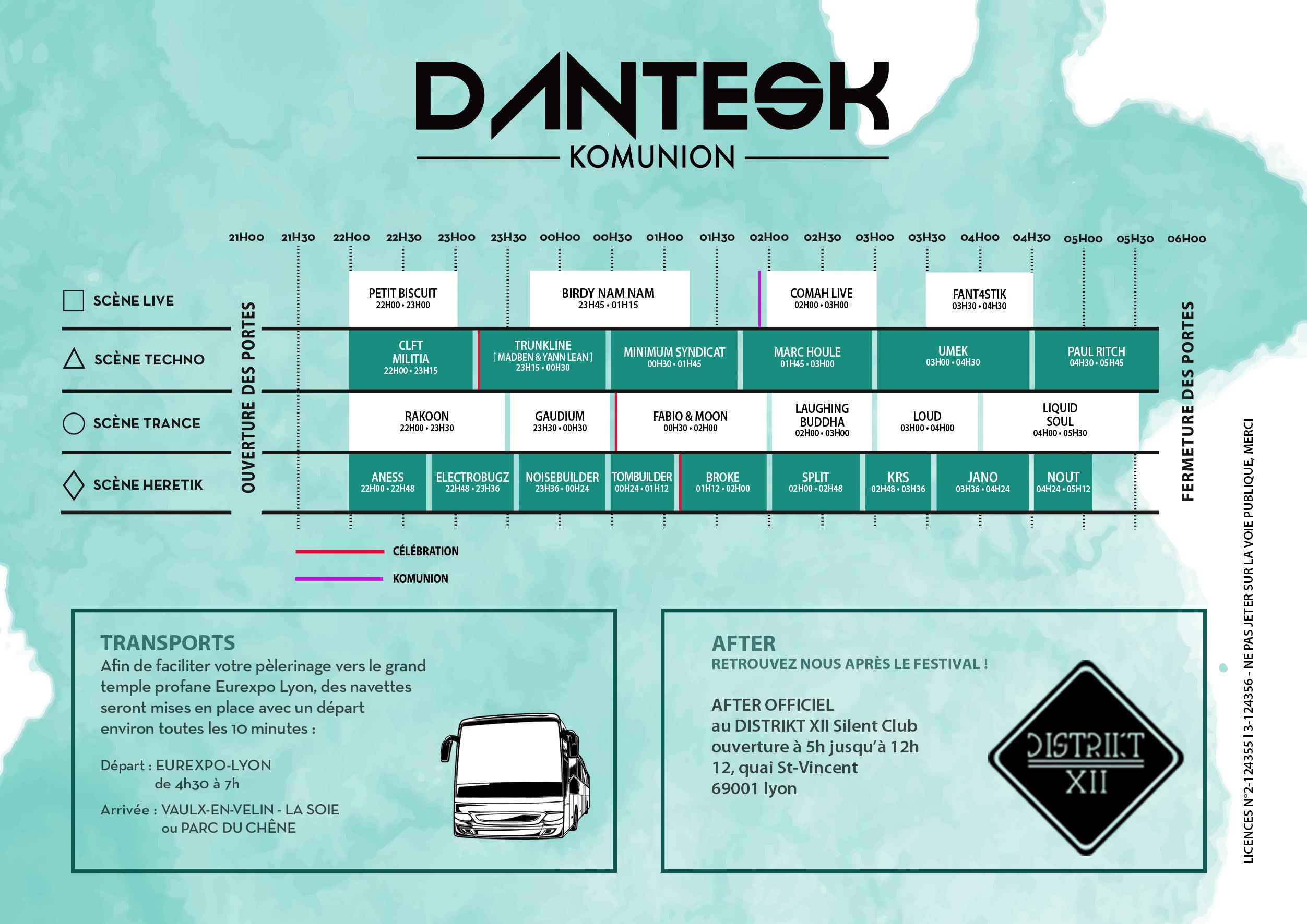 Timetable Dantesk Komunion